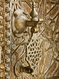 Detail on Bronze Doorway, Royal Palace, Fez-El-Jedid, Fez (Fes), Morocco, North Africa, Africa Photographic Print by Guy Edwardes