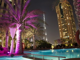 Night View of Burij Khalifa Tower, Dubai, United Arab Emirates, Middle East Photographic Print by Angelo Cavalli