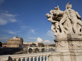 The Papal Fortress of Castel Sant'Angelo Seen From Vittorio Emanuele Ii Bridge, Rome, Italy, Europe Photographic Print by Carlo Morucchio