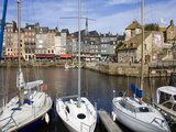 Yachts in the Old Harbor, Honfleur, Normandy, France, Europe Photographic Print