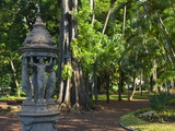 Statue in the Botanical Garden, St-Denis, La Reunion, Indian Ocean, Africa Photographic Print