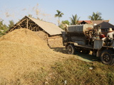 Rice Processing, Siem Reap, Cambodia, Indochina, Southeast Asia, Asia Photographic Print