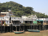 Stilt Houses, Fishing Village of Tai O, Lantau Island, Hong Kong, China, Asia Reproduction photographique par Wendy Connett