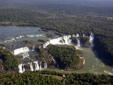 View Over the Iguassu Falls From a Helicopter, Brazil, South America Photographic Print by Olivier Goujon