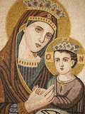 Virgin and Child Mosaic in St. George's Orthodox Church, Madaba, Jordan, Middle East Photographic Print
