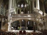 Interior of Saint-Etienne-Du-Mont Church, Paris, France, Europe Photographic Print