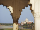 View of Taj Mahal From Agra Fort, UNESCO World Heritage Site, Agra, Uttar Pradesh, India, Asia Photographic Print by Ian Trower
