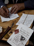 Ancient Style of Writing During An Historical Reenactment at Venice Arsenale, Venice, Veneto, Italy Photographic Print by Carlo Morucchio