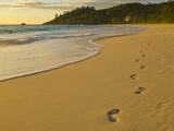 Beach Anse Intendance at Sunset, Mahe, Seychelles, Indian Ocean, Africa Photographic Print