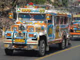Typical Painted Jeepney (Local Bus), Baguio, Cordillera, Luzon, Philippines, Southeast Asia, Asia Photographic Print