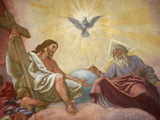 Jesus, God and the Holy Spirit, Franciscan Church of Vienna, Vienna, Austria, Europe Photographic Print
