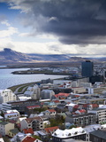 View Over Reykjavik From Hallgrimskirkja Church, Reykjavik, Iceland, Polar Regions Photographic Print