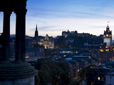 Cityscape at Dusk Looking Towards Edinburgh Castle, Edinburgh, Scotland, Uk Photographic Print by Amanda Hall