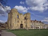 The Keep and Inner Courtyard of Tonbridge Castle, Tonbridge, Kent, England, United Kingdom, Europe Photographic Print