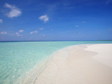 Beach and Sea, Maldives, Indian Ocean, Asia Photographic Print by Sakis Papadopoulos