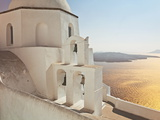 Greek Orthodox Church in Fira, Santorini (Thira), Cyclades Islands, Aegean Sea, Greece Photographic Print