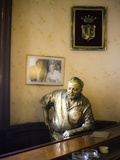 Lifesize Bronze Statue of Author Ernest Hemingway in Bar El Floridita, Havana, Cuba Fotografiskt tryck