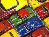 Rows of Colourful Model Traditional American Cars For Sale to Tourists, Old Havana, Cuba Photographic Print by Martin Child