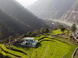 Farm Among a Green Fields Close to Rishikesh, Uttarkhand, India, Asia Photographic Print