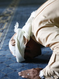 Muslim Man Praying, Dubai, United Arab Emirates, Middle East Photographic Print