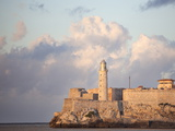 Faro Castilla Del Morro, the Old Fort at the Entrance to Havana Harbour, Havana, Cuba Photographic Print