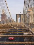 Traffic on Brooklyn Bridge, New York City, New York, United States of America, North America Photographic Print by Amanda Hall