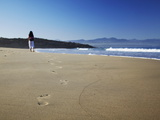 Woman Walking on Beach, Plettenberg Bay, Western Cape, South Africa, Africa Photographic Print by Ian Trower
