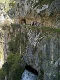 Walking the Cares Gorge Footpath, Picos De Europa, Castilla Y Leon, Spain, Europe Photographic Print