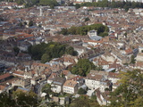 View Over the City of Besancon, Doubs, Franche-Comte, France, Europe Photographic Print by Olivier Goujon