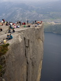 Preikestolen Rock, Lysefjorden, Rogaland, Norway, Scandinavia, Europe Photographic Print by Marco Cristofori