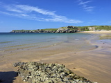 Broad Haven Beach in Spring Sunshine, Pembrokeshire National Park, Wales, Uk Photographic Print by Peter Barritt
