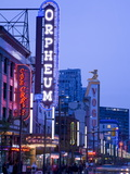 Orpheum Theatre on Granville Street, Vancouver, British Columbia, Canada, North America Photographic Print by Richard Cummins