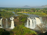 Blue Nile Falls, Waterfall on the Blue Nile River, Ethiopia, Africa Fotografisk tryk