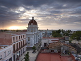 View Over Parque Jose Marti at Sunset From the Roof of the Hotel La Union, Cienfuegos, Cuba Photographic Print by Lee Frost