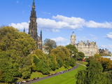 Princes Street Gardens, Edinburgh, Lothian, Scotland, Uk Photographic Print by Amanda Hall