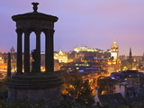 Edinburgh Cityscape at Dusk Looking Towards Edinburgh Castle, Edinburgh, Lothian, Scotland, Uk Photographic Print by Amanda Hall