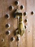 Brass Hand of Fatima Door Knocker, a Popular Symbol in Southern Morocco, Merzouga, Morocco Photographic Print by Lee Frost