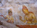 Buddhist Frescoes in Cave Gallery Part Way Up Lion Rock, Sigiriya, UNESCO Heritage Site, Sri Lanka Photographic Print