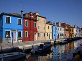 Colorful Buildings at Burano Island, Venice Lagoon, Venice, Veneto, Italy Photographic Print by Carlo Morucchio