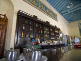 Bar of Colonial Restaurant, Cienfuegos, Cuba, West Indies, Caribbean, Central America Photographic Print