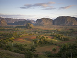 Vinales Valley From Grounds of Hotel Los Jasmines Showing Limestone Hills Known As Mogotes, Cuba Photographic Print
