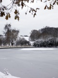 Frozen Pond, Hampstead Heath, London, England, United Kingdom, Europe Photographic Print by Michael Kelly
