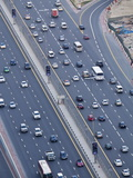 Elevated View of Traffic Along Sheikh Zayed Road, Dubai, United Arab Emirates, Middle East Photographic Print