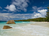 Famous Beach of Anse Lazio, Praslin, Seychelles, Indian Ocean, Africa Photographic Print