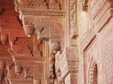 Carvings on Birbal Bhavan, Fatehpur Sikri, UNESCO World Heritage Site, Uttar Pradesh, India, Asia Photographic Print by Ian Trower