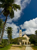 Chruch in Tropical Surroundings, Beau Vallon, Mahe, Seychelles, Africa Photographic Print