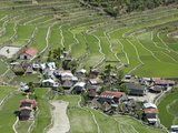 Stone-Walled Rice Terraces of Ifugao Culture at Batad Village, Part of Banaue Area Photographic Print