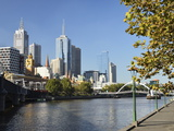 Melbourne Central Business District (Cbd) and Yarra River, Melbourne, Victoria, Australia, Pacific Photographic Print