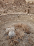 Kiva and Other Structures at Pueblo Bonito, Chaco Culture National Historic Park, New Mexico, USA Photographic Print by James Hager