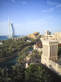 Burj Al Arab Seen From the Madinat Jumeirah Hotel, Jumeirah Beach, Dubai, Uae Photographic Print by Amanda Hall